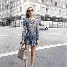 "Planet Blue on Instagram: "" @classisinternal in the @forloveandlemons sierra mini dress"""