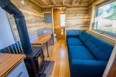 This is Dennis' MitchCraft Tiny House on Wheels that was built using Structurally Insulated Panels and you're welcome to come on in to see inside! Tiny Living Rooms, Home Design Living Room, Living Room Windows, Tiny House Living, Small Living, House 2, Living Area, Tiny House Swoon, Tiny House On Wheels