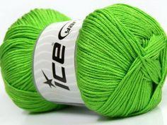 Baby AntiBacterial Light Green knitting yarn from ice yarn