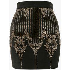 Embellished velvet mini skirt   Women's skirts   Balmain (3.005 BRL) ❤ liked on Polyvore featuring skirts, mini skirts, balmain, saia, bottoms, velvet mini skirt, balmain skirt, embellished mini skirt, short skirts and embellished skirts
