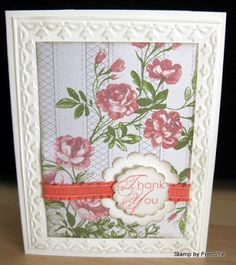 Stamp & Scrap with Frenchie: Stampin'Up! Tea for two and Calypso Coral