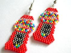 free beaded earring patterns - Google Search