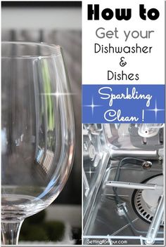 Here is an easy and quick cleaning tip! How to Get your Dishwasher and Dishes Sparkling Clean! No muss, no fuss.