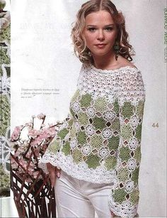 Crochet Top, Pattern not in English but has graphs