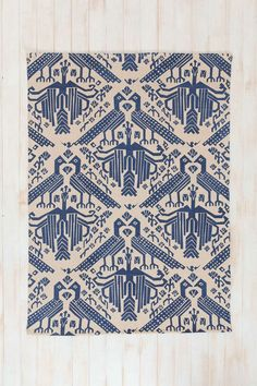 Magical Thinking Bird Stamp Handmade Rug - Urban Outfitters