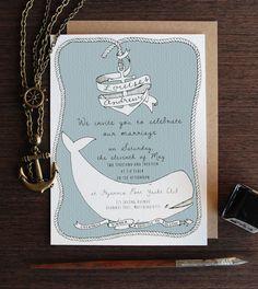 Custom Illustrated Wedding Invitations - Adrienne Elise Designs