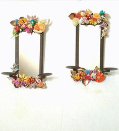 Check out this item in my Etsy shop https://www.etsy.com/listing/280351484/candle-sconces-mirrored-wall-sconces