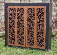 Beautiful large cabinet with amazing custom doors (ebony and walnut) by RobertTyward on Etsy https://www.etsy.com/listing/263591387/beautiful-large-cabinet-with-amazing