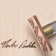 Temperature Adjustable Custom Wood Branding Iron With