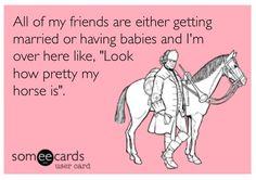 Horses. Ecard. Equestrian.