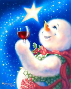 "Snowman ❄️ ""Frosty Magic"" ❄️ By: Dona Gelsinger ❄️ Artist Christmas And New Year, Winter Christmas, All Things Christmas, Christmas Holidays, Frosty The Snowmen, Cute Snowman, Snowman Crafts, Vintage Christmas Cards, Christmas Snowman"