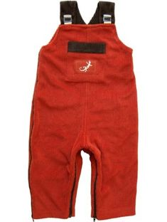 Zypalong Kids Baby Boy/Girl Overalls with Zippers (Red, Fall/Winter, Made in USA) $48.00