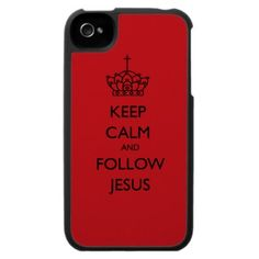 Keep Calm And Follow Jesus iPhone 4 Case by lightofmine Christian Gifts & Apparel