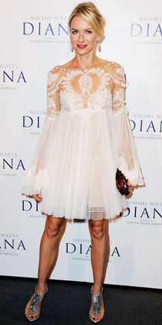 Naomi Watts's Best Red Carpet Looks - In Marchesa, 2013 from InStyle.com