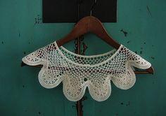 Crochet collar.
