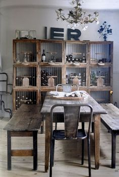 obsessed with this mix of rustic & industrial