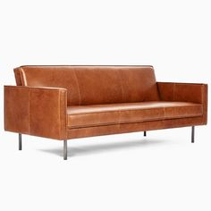 Axel Full Leather Futon | West Elm Tufted Sofa, Upholstered Chairs, Sofa Beds, Couches, Sofa Bed West Elm, Modern Sleeper Sofa, Sleeper Sofas, Leather Futon, Saddle Leather
