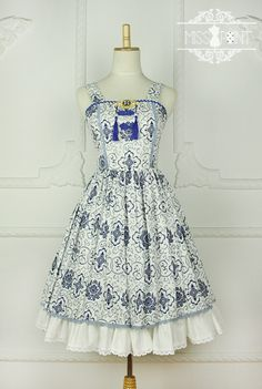 New Release: Miss Point ~Blue and White Porcelain~ Qi Lolita ✣✤JSK✣✤ >>> http://www.my-lolita-dress.com/miss-point-blue-and-white-porcelain-qi-lolita-jsk-yuan-115 ✂[Made-to-Measure]✂
