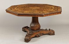 An Antique Wooden Inlaid Centre Table