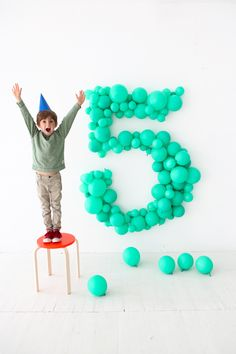 Giant Balloon Number DIY | Oh Happy Day! | Bloglovin'