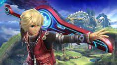 From Xenoblade Chronicles, Shulk joins the battle!! He's not the type of character that would usually appear in the Smash Bros. series, but we worked really hard to make it happen. We're very happy with how he turned out. This stage is Gaur Plain.