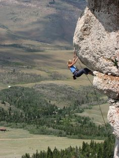 #Climbing at Wild Iris, WY  Repinned from NOLS