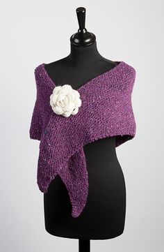 Pure Natural Wool Wrap Handknitted In Irish Wool by TissaGibbons, €45.00