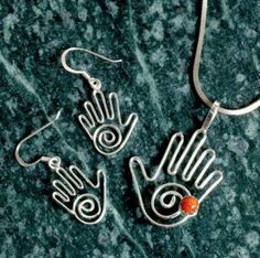 Healing Hands Earring & Pendant Set $27