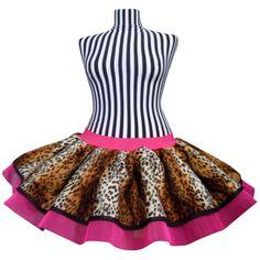 Neon Pink Tutu Leopard Print Skirt 80'S Fancy Dress ($23) ❤ liked on Polyvore featuring dresses, black, skirts, women's clothing, women plus size dresses, leopard print dress, 80s fashion, black dress and plus size dresses