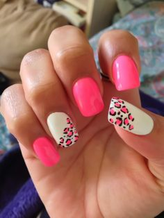 leopard Print Valentines Day | See more nail designs at http://www.nailsss.com/...