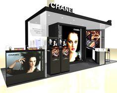 Stunning Chanel Booth and Graphics #exhibitdesign #tradeshow #eventprofs