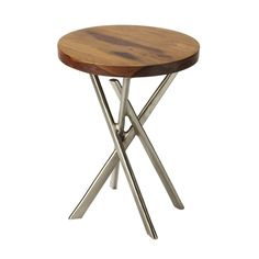 """Butler Home Decorative Accent Table Butler Loft FinishAccent Table. 14""""""""W, 14""""""""D, 18""""""""H. Finish Butler Loft. Finish Name: Butler Loft. Product Dimensions: 14""""""""Wx14""""""""Dx18""""""""H. Product Weight: 15 lbs."""