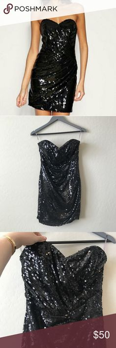 Lipsy asymmetric sequin dress Beautiful sequin dress by lipsy Zips up back $185 retail lipsy Dresses