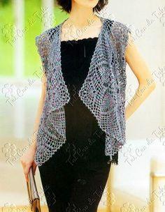 Crochet Vest - Free Crochet Diagram - (tricrodatuka.blogspot)