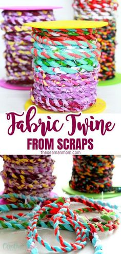 Do you happen to have too many fabric scraps in your stash? Or maybe you're looking for scrap fabric projects to make simply because those are so much fun and enjoyable! Clean up your basket and put all those beloved scraps to a good use with this delightful tutorial on making fabric twine! #easypeaycreativeideas #sewing #fabric #fabrciscraps #fabriccrafts #sewingtutorials #sewingprojects #sewingideas #sewingforbeginners Scrap Fabric Projects, Easy Sewing Projects, Sewing Projects For Beginners, Diy Craft Projects, Fabric Scraps, Sewing Tutorials, Easy Diy Crafts, Yarn Crafts, Sewing Patterns Free
