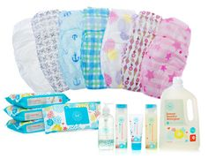biodegradable diapers, non toxic and so cute from the Honest Company ( jessica alba and Christopher Gavigan )
