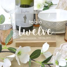 Clear Personalised Table Number Engraved Acrylic with Timber Base - Any Number - Wedding Decor The Wedding Date, Free Wedding, Rustic Wedding, Wedding Table Decorations, Wedding Table Numbers, Wedding Tables, Acrylic Table, Personalized Wedding, Unique Weddings