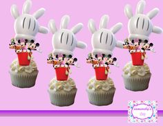 Mickey Minnie and Goofy cupcake topperscakepop toppers by iamsoxhy
