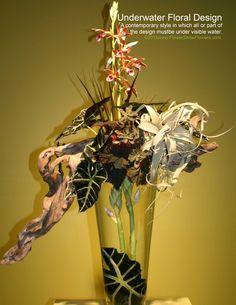 UNDERWATER FLORAL DESIGN From: www.FlowerShowFlowers.com