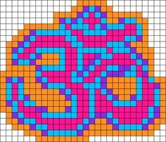 kandi patterns for raver kandi bracelets, raver cuffs Melty Bead Patterns, Kandi Patterns, Seed Bead Patterns, Perler Patterns, Beading Patterns, Pixel Art, Pearler Beads, Fuse Beads, Cross Stitch Beginner