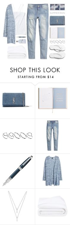 """""""* d e n i m * Contest! Enter!"""" by kearalachelle ❤ liked on Polyvore featuring Yves Saint Laurent, ASOS, H&M, Alder New York, Fountain, BCBGeneration and Frette"""