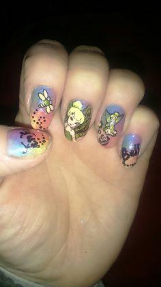 Tinkerbell _hada adorada mis uñas