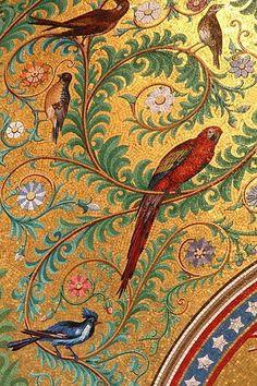 Wallpaper that looks like mosaic tile ~~  Houston Foodlovers Book Club