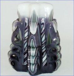 Řezaná svíčka 11 cm - fialová