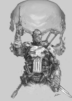 THE PUNISHER sketch by Alexander Lozano