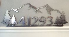 Custom address sign by GarysCustomMetalwork on Etsy