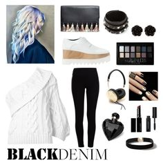"""""""Back in Black"""" by k-atherine-queen on Polyvore featuring Rebecca Minkoff, Rosie Assoulin, STELLA McCARTNEY, Pieces, Valentino, Lipsy, Maybelline, Erica Lyons, Frends and Witchery"""