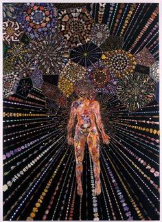 Artville Artist Of The Day FRED TOMASELLI Airborne Event  Year: 2003 Medium: mixed media, acrylic paint, resin on wood,  Size: 84 x 60 x 1 1/2 in