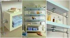 Modernizing Your Home with Industrial Pipe http://www.simplifiedbuilding.com/blog/modernizing-your-home-with-industrial-pipe/ #pipeshelf #diyfurniture #modern #keeklamp