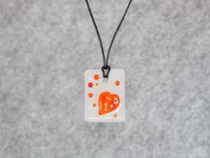 Heart necklace Valentines day gift  Heart by EThandmadeshop